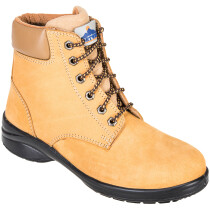 Portwest FT41 Steelite Louisa Ladies Ankle Boot S3 Footwear - Wheat