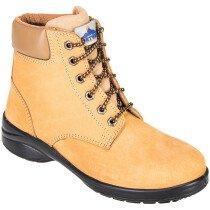 Portwest FT41 Steelite Louisa Ladies Ankle Boot S3 - Wheat