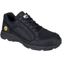Portwest FT62 Compositelite ESD Tees Trainer Shoe S1P - Black