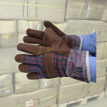 Carton of 120 pairs Lawson-HIS 1042 Brown Furniture Hide Rigger Gloves