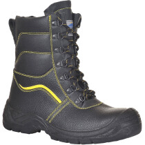 Portwest FW05 Steelite Fur Lined Protector Boot S3 CI - Black