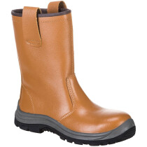 Portwest FW06 Steelite Rigger Boot S1P HRO (Unlined) - Tan