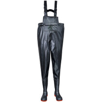 Portwest FW74 Safety Chest Wader S5 - Black