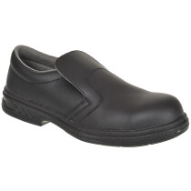 Portwest FW81 Steelite™ Microfibre Steelite Slip On Safety Shoe S2 - Available in Black or White