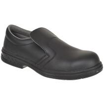 Portwest FW81 Steelite™ Microfibre Steelite Slip On Safety Shoe S2 - Available in Black or White