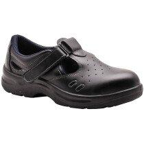 Portwest FW01 Steelite Safety Sandal Shoe S1 - Black