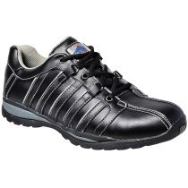 Portwest FW33 Steelite Arx Safety Trainer Shoe S1P HRO - Black