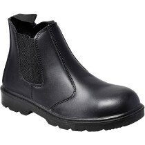 Portwest FW51 Steelite Dealer Boot S1P Safety Boot (Chelsea Boot) - Black