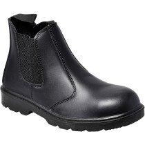 Portwest FW51 Steelite Dealer Boot S1P Safety Boot (Chelsea Boot) - Black