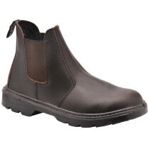 Portwest FW51 Steelite Brown S1-P Dealer Safety Boot (Chelsea Boot)