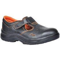 Portwest FW86 Steelite Ultra Safety Sandal Shoe S1P - Black with Orange