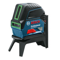 Bosch GCL 2-15 G Combi laser, Green Beam 15m Cross Line with 2 Point Laser in One Device + RM1 Rotating Mount + Target Plate + Pouch