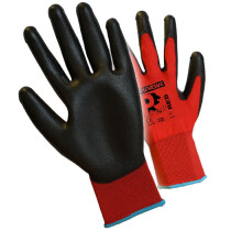 Premier PUPL Pred Red PU Gloves Cut Level 1