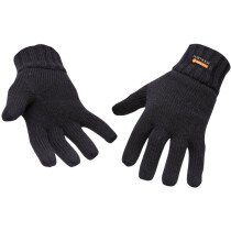 Portwest GL13 Knit Glove Insulatex Lined - Available in Black or Navy Blue