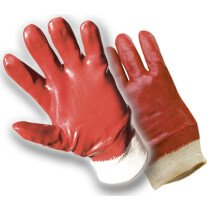 PVC Knit Wrist Handling Gloves (Large Size 10)
