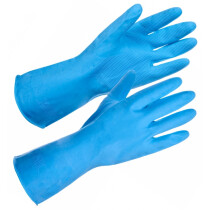 Supertouch Household 13314 Latex Glove - Blue - X-Large (Size 10)