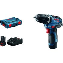 Bosch GSR 12V-35 12V Brushless 2-Speed Drill Driver 2x3.0Ah Batteries in L-Boxx