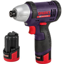 Sparky GUR 12LI HD Compact Impact Driver 12V with 2 x 2.0Ah Li-ion Batteries in Case