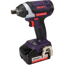 "Sparky HD Professional  SPKGUR18SLI 18V 1/2"" Impact Wrench with 2 x 4.0Ah Batteries and Case"