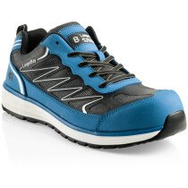 Buckbootz Guyz Largo Bay Blue Leather/KPU Non-Metallic Safety Trainer S1 P HRO SRC