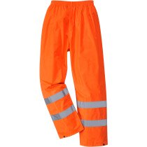 Portwest H441 O Hi-Vis Rain Trousers High Visibility - Orange