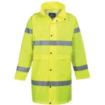 Portwest H442 High Visibility Hi-Vis Coat 100cm - Yellow or Orange Available