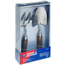 Spear and Jackson HANDTOOLSET1 Stainless Steel Hand Trowel and Weed Fork Set