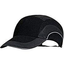 JSP HardCap A1 Plus Protective Bump Cap Black with 7cm Long Peak (Pack 20)