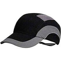 JSP HardCap A1 Plus Protective Bump Cap - Black/Grey with 7cm Long Peak (Pack 20)