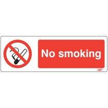 "JSP HBJ101-000-000 Rigid Plastic ""No Smoking"" Safety Sign 600x200mm"
