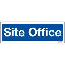 """JSP HBJ151-000-000 Rigid Plastic """"Site Office"""" Construction Site Sign 600x200mm"""