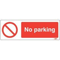 "JSP HBJ211-000-000 Rigid Plastic ""No Parking"" Safety Sign 600x200mm"