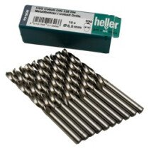 Heller 21265 6 990 5% Cobalt 2.4mm x 57mm HSS-CO Jobber Twist Drill (Packet of 10)