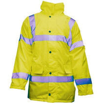JSP F-HVMWJ-YLW-M Hi-Vis Motorway Jacket - Yellow - Medium