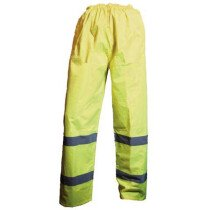 JSP F-HVT2 Hi-Vis 2 Band Trousers Yellow Breathable Waterproof