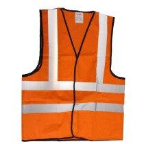 JSP Hi Visibility Orange Waistcoat Vest EN471.2 (Extra-Large Only)