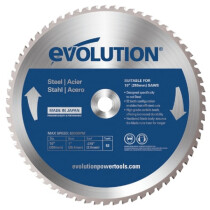 Evolution HTC255STEEL Steel Cutting Circular Saw Blade 255 x 2 x 25.4mm x 52T