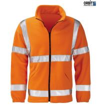 Orbit Black Knight HVFLER Gladiator Fleece Hi Viz Jacket High Visibility - Orange