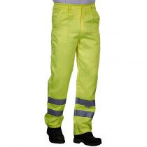Yoko HV015T-3MR Hi-Vis Poly Cotton Work Trouser