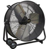 "Sealey HVD24P Industrial High Velocity Drum Fan 24"" 230V - Premier"