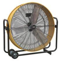 "Sealey HVD30110V Industrial High Velocity Drum Fan 30"" 110V"