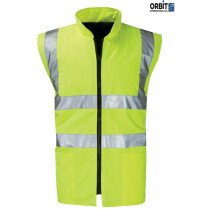 Orbit Black Knight HVRB03 Hi Viz Corinthian EN471 Reversible Body Warmer High Visibility - Yellow