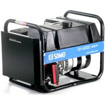 SDMO HX 6000 Petrol Generator 6.6kVA Honda 4 Stroke Engine HX6000