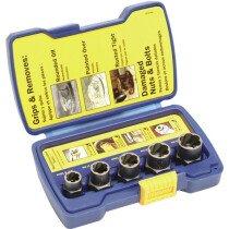 Irwin 10504634 Bolt-Grip Fastener Remover 5 Piece Base Set IRW10504634