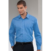 Jerzees 934M Men's Long Sleeve Poly-Cotton Easy Care Poplin Shirt