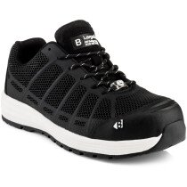Buckbootz Kez BK Largo Bay Black Safety Lace Trainer S1 P HRO SRC