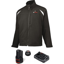 Bosch GHJ 12-18V Heated Jacket with Adaptor and 12v Battery, Charger