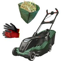 Bosch Advanced Rotak 750 + Glove + Garden Sack 1700W 45cm Lawn Mower