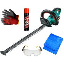 Bosch AHS 55-20 LI 18V 55cm Hedge Cutter with 1x 2.5Ah Battery with Essential Kit