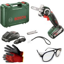 Bosch AdvancedCut 18 18V NanoBlade Saw 1x2.5Ah with Gloves and Safety Specs